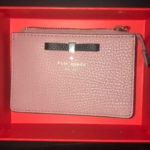 Kate Spade blush NWT key ring coin purse